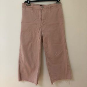 BDG Pink Denim Culottes